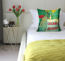 cognac jacquet peacock green vintage alcohol cushion covers