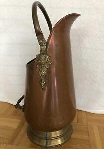 Kupfer Kanne Vase Schirmständer Blumenvase Milchkanne Antik Löwe Deko Landhaus