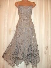 MONSOON 'Allure' Silk & Sequin Occasion Dress 16 - Ethereal & Beautiful!