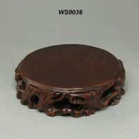Wood Stand For Figurine, Netsuke Carving Display WS0036