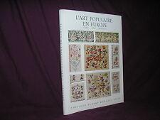 Art populaire en Europe Tissus tapis broderies par Bossert 40 planches couleurs