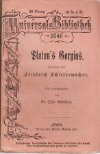 Platone 's Gorgia (Reclam-UB 2046) del 1900