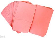 "50 2"" x 2""  Paper Coin Envelopes Acid Free Pink Color"