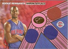 AARON AFFLALO ROOKIE JERSEY NO. SERIAL #4/49 1/1 2007-08 BOWMAN ELEVATION MAGIC