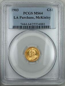 1903 McKinley Gold $1, PCGS MS-64, LA Purchase, Commemorative Coin