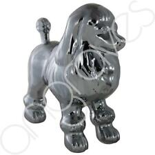 Dark Grey Art Deco Poodle Dog Decoration Ornament Gift Figure Home Decor