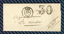 -= Lettre de RIOM (Puy-de-Dôme) pour MOULINS (Allier) - 1858 =-