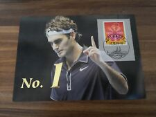 Roger Federer, Maximumkarte / MaxiCard, No.1 at the End of 2004/05/06/07/09