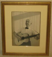 Original KAY BELL REYNAL 'Carl Sandburg with Guitar' PHOTO - Listed PULITZER