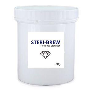 Sodium Percarbonate Granular Cleaner Steri-Brew NO RINSE Home Brew 5kg Tub