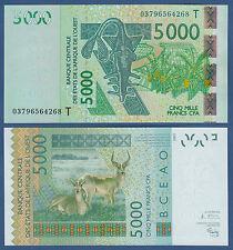 WEST AFRICAN STATES / TOGO 5000 Francs 2003 UNC  P.817T a