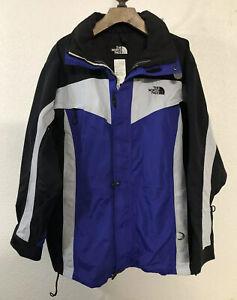 The North Face Jacket Men's Blue Black VTG Ski SHELL ONLY Size XL