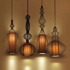 Vintage Style Wrought Iron Pendant Light, Black Retro Industrial Light Fixture