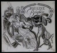Raoul AUGER (1904-1991) Pauline Bonaparte Encre de chine pour Editions Dargaud