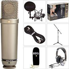 Rode NT1-A SET Studio Mikrofon Stativ Kopfhörer Spinne Popschutz Kabel DVD NEU