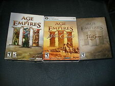 Age of Empires III (PC, 2005) -War Chiefs + Collector Edition