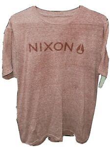 Nixon Watch Brand Shirt Size Medium Red