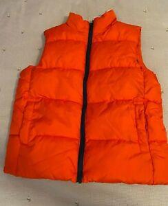 Crazy 8 Boys Orange Puffer Vest Medium 7-8