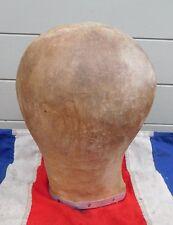 Antiguo Vintage Primative Sombrerería Maniquí Cabeza de visualización de forma de cabeza