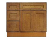 Kingway 36-inch Vanity Cabinet with Left Drawers Honey Oak