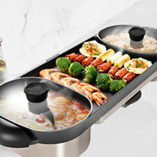CMTM AU Electric 2 in 1 Hotpot BBQ Oven Smokeless Barbecue Pan Grill Machine Kor