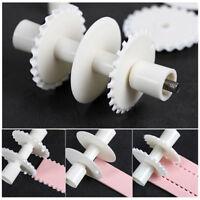 Plastic Fondant Strip Ribbon Cutter Cake Rolling Pin Embosser Decor Making Tool