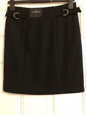 Next Tailoring Size 8R Mini Skirt Black Petite BNWT