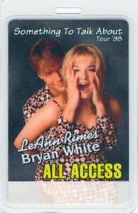 LEANN RIMES 1998 SOMETHING TO TALK ABOUT TOUR LAMINATED ALL ACCESS PASS