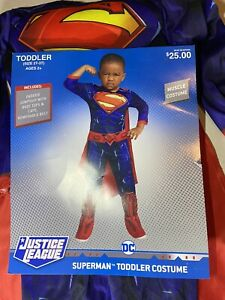 Toddler Superman Muscle Halloween Costume Justice League Size 2T-3T Play Time