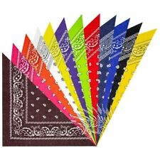 Dozen 12 PC Multi Color Bandanas Scarf Face Covering Green red Blue colors