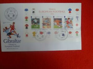1996 TRIBUTE TO EUROPEAN FOOTBALL FIRST DAY COVER MINI SHEET