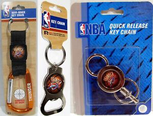 NBA Oklahoma City OKC Thunder Navi-Biner Quick Release Bottle Opener Key Ring