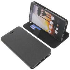étui pour CUBOT X15 style Livre Etui Housse pour téléphone mobile Livre Noir