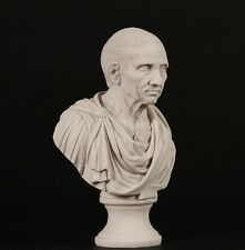 Roman Emperor Brutus Bust Carrara Marble Sculpture. Made in UK.