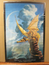 Vintage 2001 Chris Achilleos The Sentinel poster dragon 5554