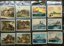 PLAYERS LARGE CARDS - 1929 - PICTURESQUE COTTAGES - 1939 - BRITISH NAVAL CRAFT