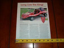 1970 KING MIDGET MINI MICRO CAR DUNE BUGGY ORIGINAL 2006 ARTICLE