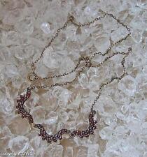 Granatcollier Antikcollier Collier mit Granat Granate Halskette Damen L. 42,5 cm