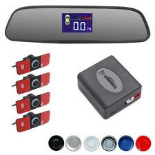 Rearview Mirror LED Display 4 Parking Sensors Car Reverse Backup Kit System