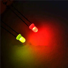 100PCS 2pins F3 3mm Dual Bi Color Polar Changing Red/Green Led Diffused Leds