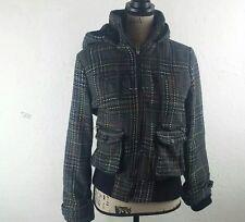 JACK Unisex Winter Coat Jacket Size L Gray Multi Hood Ribbed
