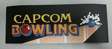 Capcom Bowling arcade marquee sticker. 3.5 x 10. (Buy 3 stickers, Get One Free!)