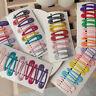 10Pcs Glitter Hairpins Snap Hair Clip for Kids Girl Metal Barrettes BB Clips 5cm