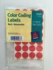 Avery Removable Color-Coding Labels, Red, 860/Pack (T5466)
