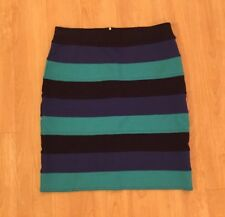 Lilly Pulitzer Blue Striped Banded Cheyenne Skirt Small S