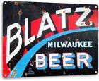 Blatz Beer Logo Weathered Retro Vintage Wall Decor Bar Man Cave Large Metal Sign