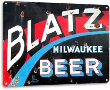 Blatz Beer Logo Weathered Retro Vintage Wall Decor Bar Pub Garage Man Cave Sign