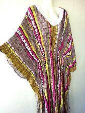 Robe Maxi Robe de Plage D'Été Kaftan Boho Tunique Kimono Taille Unique Poncho