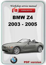 BMW Z4 E85 2003 2004 2005 Factory Service Repair Manual