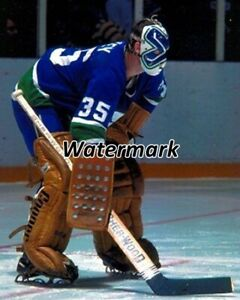 NHL 1970's Vancouver Canucks Goalie Curt Ridley Game Action Color 8 X 10 Photo